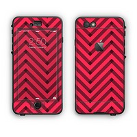 The Red & Black Sketch Chevron Apple iPhone 6 LifeProof Nuud Case Skin Set