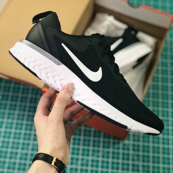 Nike Epic React Flyknit 2.0 Black White Sport Running Shoes - Best Online Sale