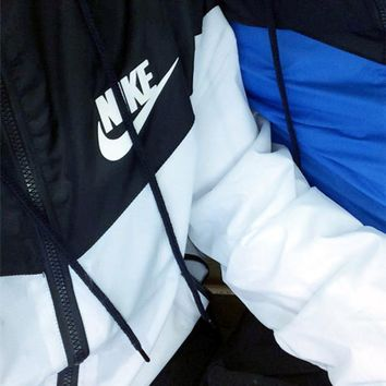 One-nice™ Nike Fashion Hooded Zipper Cardigan Sweatshirt Jacket Coat Windbreaker Sportswear