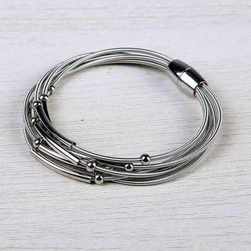 Ettica Layered Harp String Bracelet