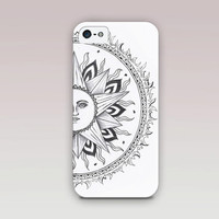 Sun Mandala Phone Case For - iPhone 6 Case - iPhone 5 Case - iPhone 4 Case - Samsung S4 Case