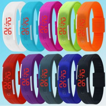New Fashion Touch Screen LED Bracelet Digital Watches     ( FREE SHIPPING )