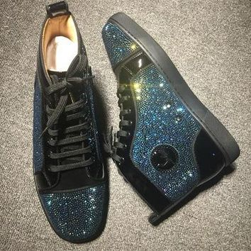Cl Christian Louboutin Rhinestone Style #1940 Sneakers Fashion Shoes - Best Online Sale