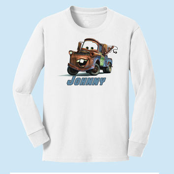 Personalized Disney's Cars Mater from Cars Long Sleeve Shirt