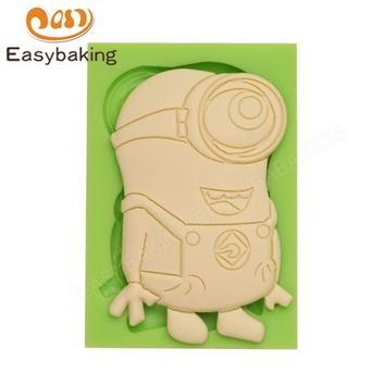Lovely Small Minion Big Eyes Silicone Molds for Soap Candle Handmade Craft Moulds Fondant Candy Molds