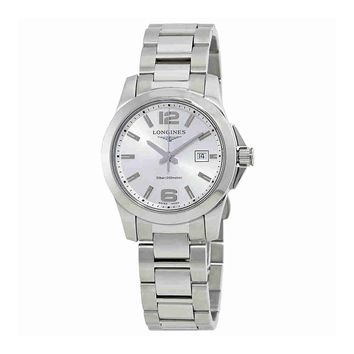 Longines Conquest Silver Dial Ladies Stainless Steel Watch L33764766