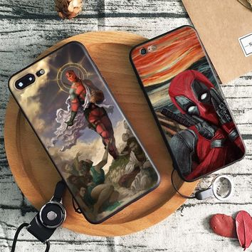 Deadpool 2 logo Fashion Tpu Soft Silicone Phone Case Cover Shell For Apple iPhone 5 5s Se 6 6s 7 8 Plus X XR XS MAX