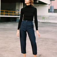 Alice Navy Wool Ciggie Pants