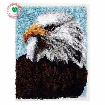 Cartoon Eagle Latch hook rug kits rugs carpets embroidery Felt Craft Stitch threads Carpet embroidery Thread embroidery cushion
