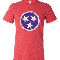 Tennessee State Flag Tri Blend T Shirt