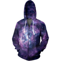 Galaxy Sphere Zip Up Hoodie