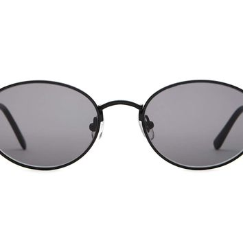 Crap Eyewear - New Riddim Matte Black Sunglasses / Grey Lenses