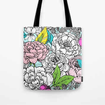 Pop of Floral Tote Bag by Inspire Your Art