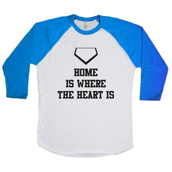 Home Is Where The Heart Is Unisex Baseball Tee
