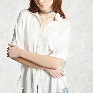 Textured Button-Front Shirt