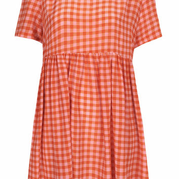 GINGHAM BABYDOLL DRESS BY BOUTIQUE