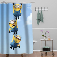 despicable me minion Custom Shower curtain decorative shower curtain size 36x72,48x72,60x72,66x72