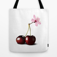 Cherry Blossom, In Memory of Mackenzie Tote Bag by Rob Snow