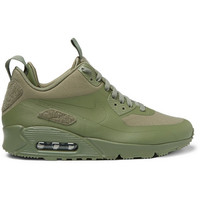 Nike - TZ Air Max 90 Canvas and Leather Sneakerboots | MR PORTER