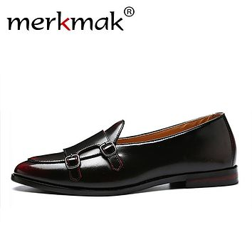 Merkmak Men Loafers Exquisite Leather Shoes For Man Business Dre 67a65abc0395
