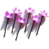 Violet Hair Fascinators Bobby Pin Verbena by mammamiaeme on Etsy