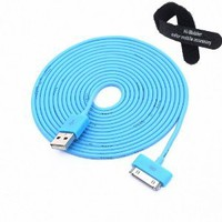 Amazon.com: Colorful 30pin USB Data Sync and Charge Cable Compatible with Iphone 4/4s, Iphone 3g/3gs, Ipod (Blue ,10ft Long): Cell Phones & Accessories