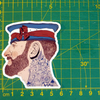 French Sailor With Tattoo Sticker Decal