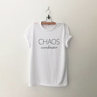 Chaos coordinator funny mom birthday gifts for teacher appreciation gifts womens graphic tee funny mom shirts print tshirts
