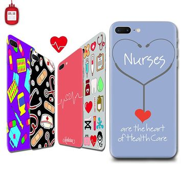 Nurse Heart Beat Doctor Phone Case Coque for iPhone 6 7 5S 6plus for Samsung Soft Silicone Clear Transparent TPU Soft Fundas