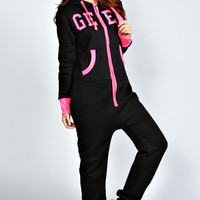 Gabbie Geek Flurocent Hooded Onesuit