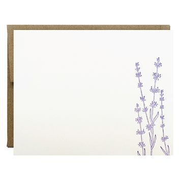 Lavender Letterpress Card
