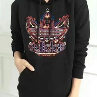"""Adidas"" Women Casual Flame Letter Logo Embroidery Thickened Long Sleeve Hooded Sweater Trousers Set Two-Piece Sportswear"