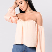 Sheen Queen Top - Peach