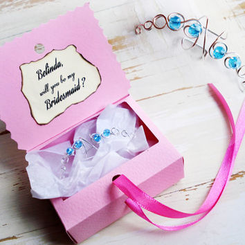 Ear Cuff Bridesmaid Gift Box Custom Bridesmaid Proposal Invite Will You Be My Bridesmaid Personalized Thank You Bridesmaid Gift Card