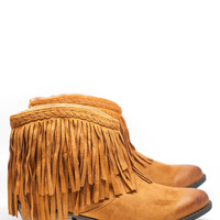 Pumped Up Kicks Fringe Ankle boots - Rust