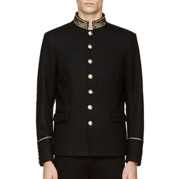 Diesel Black And Gold J-niraj Jacket