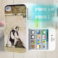 unique iphone case, i phone 4 4s 5 case,cool cute iphone4 iphone4s 5 case,stylish plastic rubber cases cover, funny Graffiti girl     p986