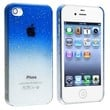 Snap-on Case compatible with Apple iPhone 4 / 4S , Clear Dark Blue Waterdrop