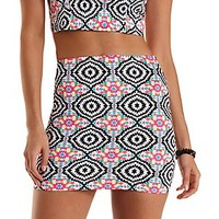 Kaleidoscope Print Mini Skirt