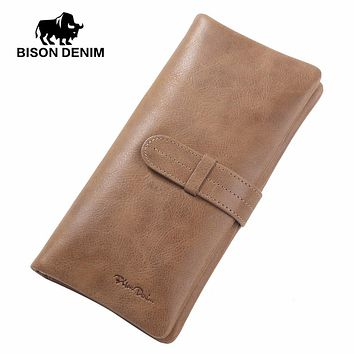 Genuine Leather Wallet Leather Clutch Bag Vintage Card Wallets Men&Women Money Coin Purse Male Carter Wallet