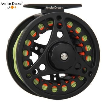 Fly Fishing Reel Aluminum Alloy Fishing Reel 1/2 3/4/5/6 / 7/8 Weight 2+1 Ball Bearing Left Right Interchangeable Fly Reel Pesca