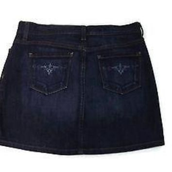 GAP womens Distressed Jeans Jean Skirt w/Cute Back Pocket design Size 2