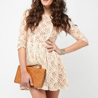 Leaflets Lace Dress $39
