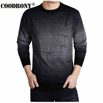 COODRONY Cashmere Sweater Men Clothing  O-Neck