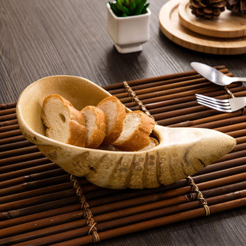 Bamboo Root Plate