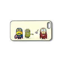 Minion and US captain- unique iPhone 4 case,iphone 4s case, iphone 5 case, ipod touch 4, ipod touch 5 case, personalized phone case