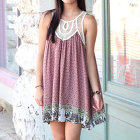 Follow Your Heart Tunic Dress {Brick Mix}