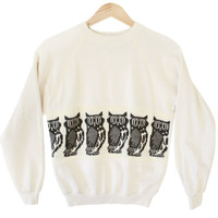 DIY Vintage 80s Owl Halfbreed Ugly Sweater / Sweatshirt - The Ugly Sweater Shop
