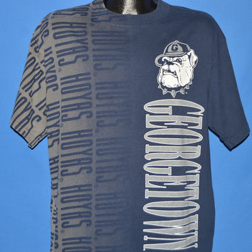 90s Georgetown Hoyas  All Over Print t-shirt Extra Large