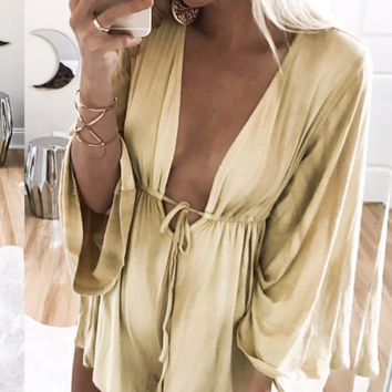Summer Deep Mini Romper - FINAL SALE